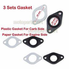 3x 20mm Carb Intake Pipe Gasket Manifold Pit Dirt Bike ATV Quad 50cc 70 90 110cc