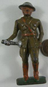 1930's Cast Iron Grey Iron Soldier Bugler
