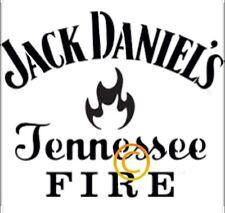 Jack Daniels Fire Stencil