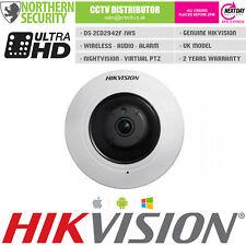 Hikvision 4MP panoramico 1.6 mm WiFi Wireless Audio SD-CARD PoE IR Fisheye Macchina fotografica