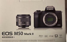 Canon EOS M50 Mark II Mirrorless Digital Camera (Black) w/ 15-45mm IS STM Lens