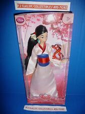 "Disney Store Mulan 12"" Doll Disney's Classic Collection With Mushu Figure New!"