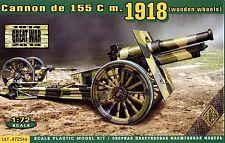 ACE 1/72 72544 WWI US 155mm Howitzer Model.1918 (Wooden Wheels)