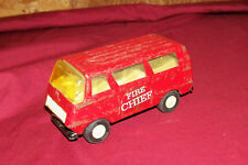 Old Tonka Fire Chief Van Truck Vehicle Emergency Rescue Vintage US Pressed Metal