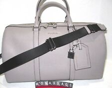 215ca7cb29c5 Michael Kors Large Pearl Grey Leather Travel Accessories Weekender Carry On   398
