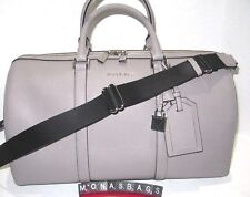 Michael Kors Large Pearl Grey Leather Travel Accessories Weekender Carry On $398