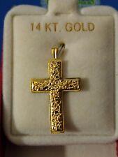 14 karat yellow gold cross pendant new never worn