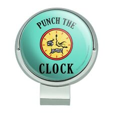 Punch The Clock Funny Humor Golf Hat Clip With Magnetic Ball Marker