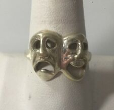 STERLING SILVER COMEDY / TRAGEDY RING SIZE 11