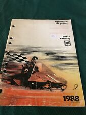 Used Vintage 1988 Bombardier Tool Accessories Parts Catalog 480123000
