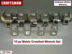 "Craftsman 10 pc 3/8"" Drive Metric MM Crowfoot Wrench Set (10mm - 19mm)"