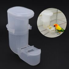 Automatic Bird Feeder Food Water Feeding Drinker Parrot Pet Clip Dispenser Cage