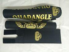 Quadangle Pad Set Oldschool Bmx REPOP PK RIPPER  Blk/Gold SE RACING