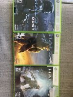 Xbox 360 Halo 3, Halo 3 ODST & Halo 4  Game Lot-PreownedTested