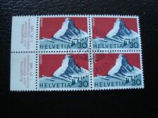 SUISSE - timbre yvert/tellier n° 754 x4 oblitere (COL1)