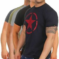 Alpha Industries Herren T-Shirt Star 121513 Männer kurzarm Tee Basic Top Stern