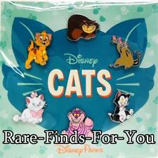 "Disney Park ""CATS"" 6-Pin Booster Pack Set Figaro Si Am Marie Cheshire More (NEW)"