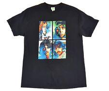 The Beatles Lennon McCartney Black Rock Tee Size Large Mens T Shirt Concert Tour