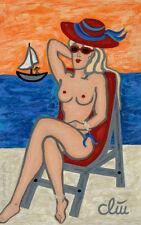 JACQUELINE DITT - Topless (oben ohne) A4 DRUCK n.Gemälde nude Akt Frau Bilder