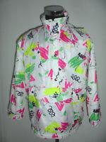 vintage 80`s RODEO Nylon Jacke SKI oldschool 80er jahre crazy pattern neon M