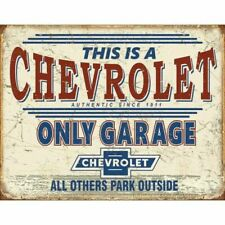 Chevrolet Only Garage Decorative Metal Tin Sign Chevy