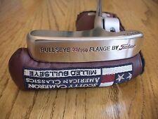 "SCOTTY CAMERON TITLEIST BULLSEYE PLATINUM FINISH 33"" FLANGE 33/350 PUTTER PGA"