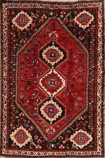 Tribal Geometric Abadeh Area Rug Wool Hand-Knotted Oriental Nomadic Carpet 6'x8'