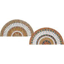 Rosoni rosone mosaico in marmo su rete per interni esterni Ø 60 cm SD 60 NOCE
