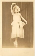 1931 Real Photo PC Teenage Girl Ballet Dancer en Pointe Wilson Studio Astoria OR