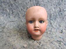 Vintage Porcelain Bisque Doll Head MB Japan Sleepy blue eyes