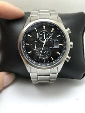 Citizen Eco-Drive Mens A-T Radio Control Chronograph Watch AT8110-53E-H23