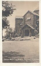 Entrance Wing C Log Chateau Seigniory Club MONTEBELLO Quebec 1944 ASN RPPC 1637