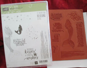 STAMPIN UP MAGICAL MERMAID STAMP SET 8 STAMPS NEW