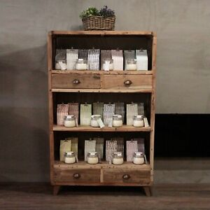 Recycled Teak Shelf Display Unit - 1.6m - Handmade Bali Wooden Bookcase
