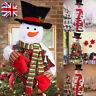 Christmas Tree Topper Top of Tree Hat Outdoor Indoor Xmas Snowman Decor Set kit