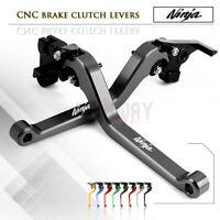 1 PAIR Long Adjustable Brake Clutch Levers Set for KAWASAKI NINJA H2 / H2R 15-18