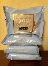 4 PACKS NEUTROGENA MAKEUP REMOVER CLEANSING TOWELETTES FACE WIPES Lot Total 84