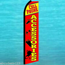 CELL PHONE ACCESSORIES FLUTTER FEATHER FLAG Swooper Tall Advertising Sign Banner