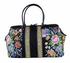 TAZ Weekender Tasche schwarz Blumen Blüten Muster Gobelin Tapestry Reisetasche