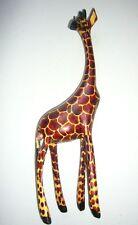 African Wood Giraffe Ornament 32cm 13 inches tall - Kenya Fairtrade Craft Gift