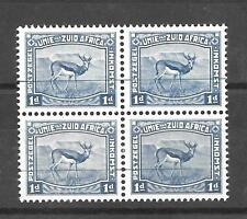 South Africa 1923 Harrison 1d unscreened 'Proof' block of 4