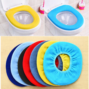 Bathroom Toilet Seat Cover Closestool Washable Soft Warmer Mat Cover Seat Pad