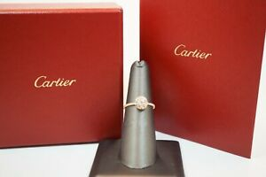 Cartier 18K Pink Gold & Diamond Etincelle De Cartier Ring - Size  52 - US 6
