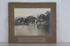 altes großes org. Foto  Eisenbahnbrücke von Kempten über die Iller 1904 im Bau