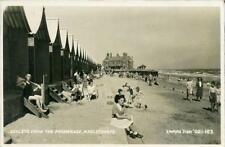 REAL PHOTO POSTCARD OF CHALETS FROM THE PROMENADE, MABLETHORPE, LINCONSHIRE