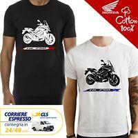 T-Shirt Honda NC750 X NC uomo Maglia moto nera cotone 100% maglietta
