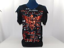 NWT Rocawear Women's Tunic Top Size M Black with Red Graffiti MSRP $64