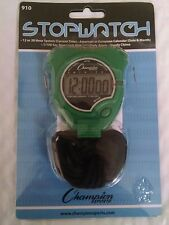 Champion Sports Running Walking Stop Watch-Stopwatch-Alarm-Green