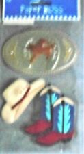 COWBOY Boots Belt Buckle Hat Rodeo Country Cowgirl Paper Bliss Stickers