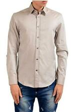 "Versace Collection Men's Shirt Beige Slim Fit 16.5"" Collar XL"